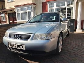 2002 Audi A3 1.8 SE 3door coupe, Blue with matching full Alcantara seats