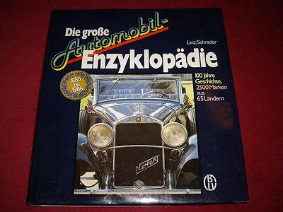 Fachbuch - H. Linz, H. Schrader, Die große Automobilenzyklopädie, 1985. Selten!