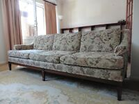 Comfortable, clean, four seater, retro style custom made settee