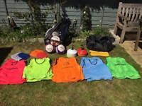Football training equipment for juniors.