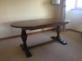 Jacobean Oak Dining Table and 6 Chairs.