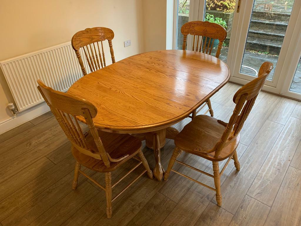 Solid Wood Dining Table 4 Chairs Pacific Frames Walter Of Wabash Usa In Caerphilly Gumtree