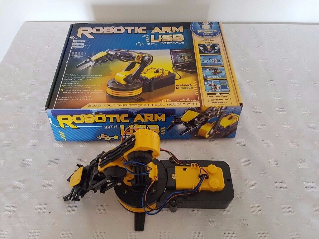 Robotic Robot Arm Kit - Wired Control OR Optional USB Interface with original box - toys