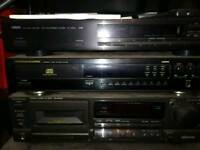 Marantz cd63 with remote. Also some yamaha, technics, mission Cyprus one