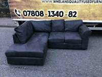 black suede fabric corner group sofa