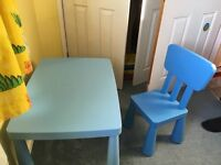 Mammut IKEA children's table and chair