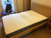 Ikea Malm double bed with Hovag double mattress