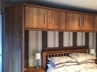 Over bed storage unit/cupboards