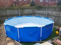 10ft pool, heater and filter pump