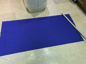 Lge roll of Royal Blue FELT Fabric (unused)-Measures 74 ins (190cms) x 35 ins (89cms)