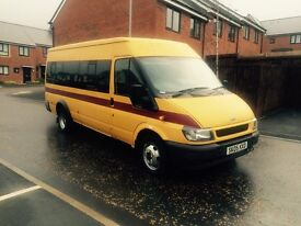 2005 05 ford transit 2.4 tdci minibus 17 seater hpi clear 1 owner from new taco fitted no vat £2999