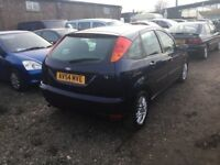 54 REG AUTOMATIC FORD FOCUS ALLOYS CD IN DARK BLU3 GOOD DRIVER CAME IN PX TODAY ANY TRIAL WELCOME