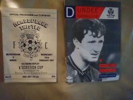 Dundee FC programmes - 1987