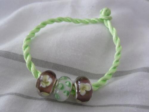 Lamp Work Beads Charm Bracelet