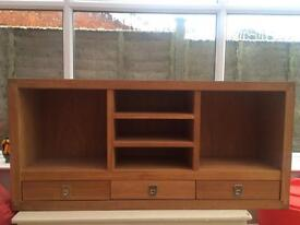 Solid oak cabinet with drawers