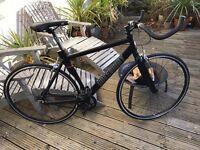 "Greenmay Black ""Fixie"" Fixed wheel men's medium bike NEW."