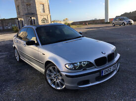 2002 BMW 330D M SPORT SILVER, F/S/H, ALPHINE LEATHER, DVD, TINTED, SUPER CLEAN