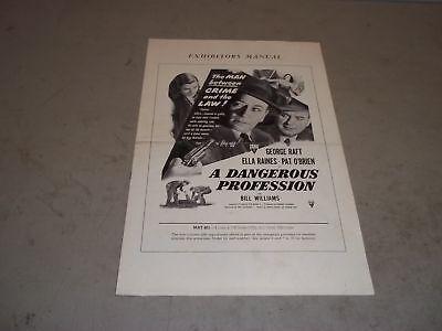 1949 A DANGEROUS PROFESSION MOVIE PRESS BOOK GEORGE RAFT & ELLA RAINES - P 109