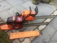 Two Chainsaws