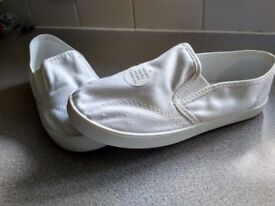 New White shoes M&S size 12