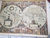 Poster - old map of world