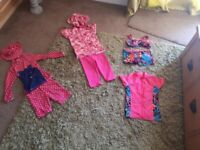 4 sets of female 5-6 swimwear/swimsuits for sale including couple of hats