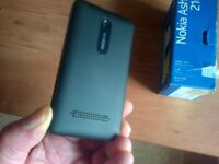 Nokia Asha 210 Black Unused and Boxed with charger and sim