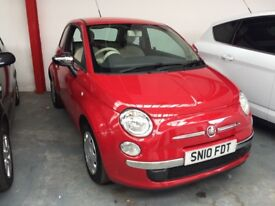 Gorgeous 2010 Fiat 500 1.2 petrol 2 owners £30 road tax and only 59000 miles