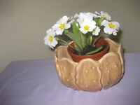 Vintage Sylvac vase / plant / cactus holder with primrose. Perfect.