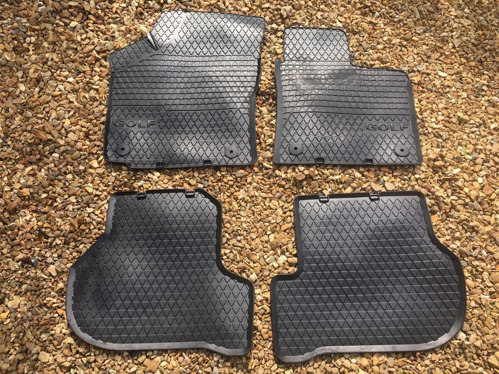 Rubber mats glasgow - Genuine Vw Golf Rubber Mats For Mk5 And Mk6