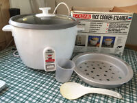 Goldair Rice cooker-Steamer - capacity 12 cups of rice