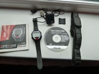 Heart Rate Monitor Watch and Transmitter & Bike Computer For Gym -Training - Running - Cycling