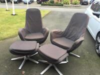 Ikea swivel chairs and footstools