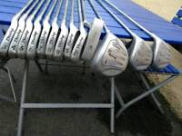 Dunlop 65i golf clubs & Dunlop stand bag.