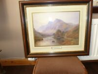 REDUCED PRICE. Framed picture, Early morning in a Highland Glen,signed A de BREANSKI