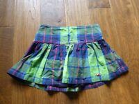barely worn Hollister size 0 uk size 6 short tartan pattern skirt