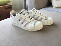 Girls size 3 adidas trainers