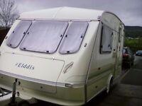 Eldiss Whirlwind XL 2 Berth Caravan (with full awning)