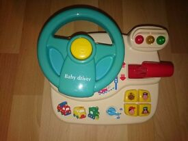Baby Driver Steering Wheel Activity Centre