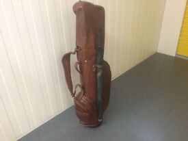 The Bridge Leather Brand New Golf Bag Italian Brown Leather Rare item Brand new with label attached