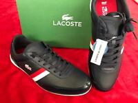 BRAND NEW LACOSTE GIRON LEATHER DARK BLUE/WHT MANS TRAINERS SIZE 9/9.5 /10 RRP.75£