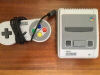Super Nintendo Mini SNES as new with box