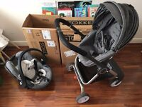 STOKKE Travel System Scoot V1 Pushchair Pram Buggy with IZI GO Car Seat - USED
