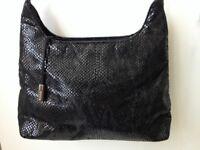 Ladies Black M&S Marks and Spencer Evening Handbag Bag