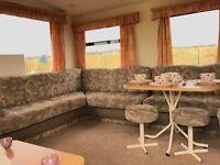 Fantastic Starter Caravan with Brand new Decking On Scotlands West Coast At Sandylands