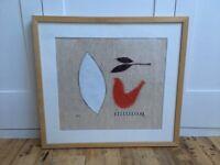 Abstract bird fabric print/art