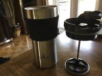 Stainless Steel Coffee Maker Travel Mug - Coffee Travel Mug - 12 oz/0.35 litre Mug –/French Press