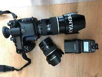 Pentax 645D Medium Format Kit - 2x Lenses - 1x Flash