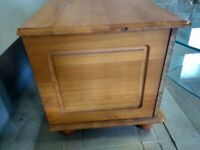 Two solid pine blanket/Toy storage boxes for sale