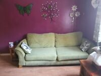 2x 4 seater dfs sofas and footstool